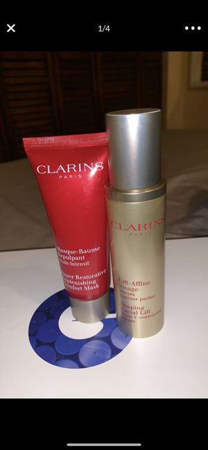CLARINS FACE MASK & facial lifting serum for Sale in Miami, FL