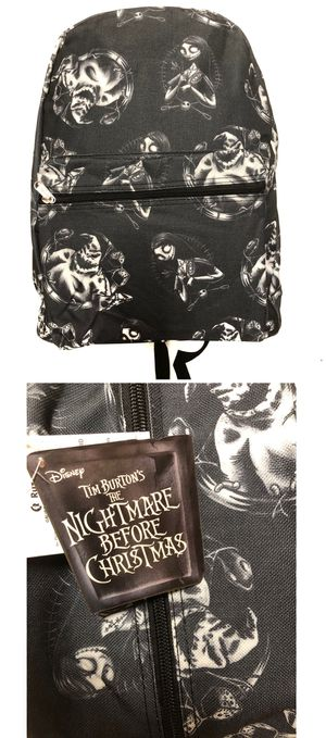 NEW! Disney the nightmare before Christmas Sally Oogie Boogie jack Skellington Backpack Disneyland book bag Halloween haunted mansion travel bag for Sale in Carson, CA