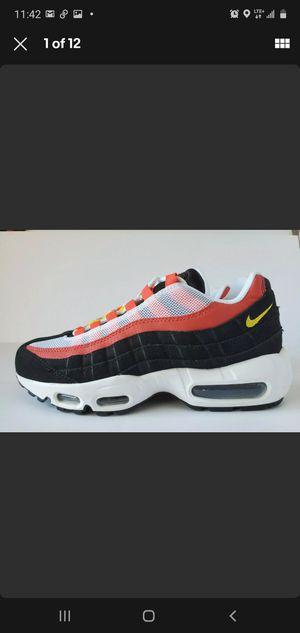 Nike Air Max 95 Essential Bright Crimson size 6 New! AT9865-101 black white red for Sale in Los Angeles, CA