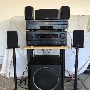 DENON and POLK AUDIO Complete Home Theater System w/ YAMAHA DVD/CD Player for Sale in Phoenix, AZ