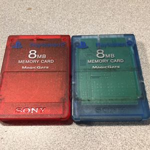 Lot Of 2 Sony PS2 8mb Memory Cards for Sale in Fort Lauderdale, FL