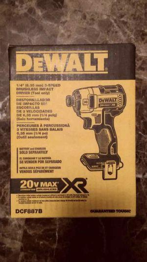 "Dewalt 20 volt XR 1/4"" Hex Impact Driver new brushless for Sale in Sugar Land, TX"