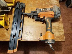 "Rigid Nail Gun "" Air Compressor Powered for Sale in Greenville, SC"