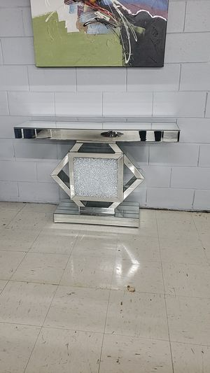 Glam glass console table for Sale in Tampa, FL