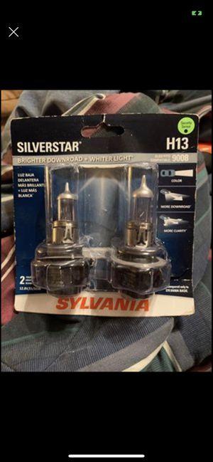 Brand New H13 Sylvania Silverstar Headlight Bulbs (2) for Sale in Mocksville, NC