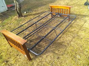 Wooden /metal Futton bed for Sale in Broken Arrow, OK