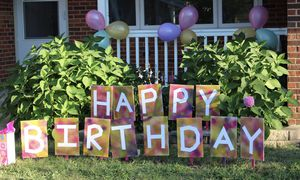 New birthday yard sign boards - purchase for Sale in Schaumburg, IL