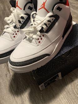 "Air Jordan Retro 3 "" Fire Red Denim Sz 11.5 for Sale in Baton Rouge,  LA"