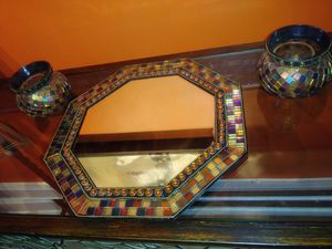 Partylite collection. Wall mirror and candle holder for Sale in Catonsville, MD