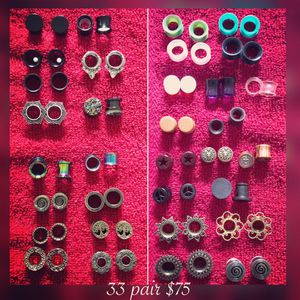 """1/2"""" inch (12mm) ear gauges, plugs, tunnels, stretching, body jewelry for Sale for sale  Greenville, NC"""
