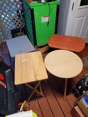 Small folding tables $10 EACH for Sale in FAIRMOUNT HGT, MD