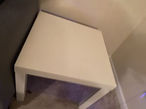 """2 white IKEA """"lack"""" side tables and a """"lack"""" coffee table for Sale in Atlanta, GA"""