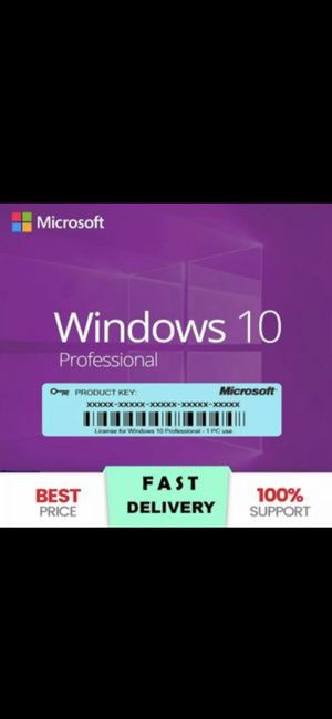 Windows 10 Professional 100% Authentic Genuine for Sale in Chicago, IL