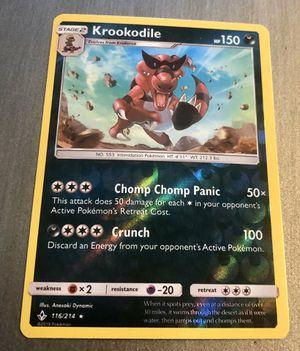 Pokemon TCG - Unbroken Bonds: Krookodile 116/214 Reverse Holo for Sale in Queen Creek, AZ