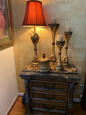 2 lamps, 3 candelabros and decoration for Sale in Miramar, FL