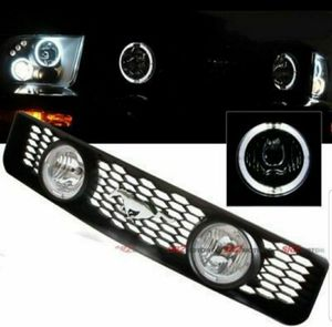 Dual LED DRL Halo Fog Light Lamp Front Hood Grill For 05-09 Ford Mustang V6 for Sale in Pomona, CA