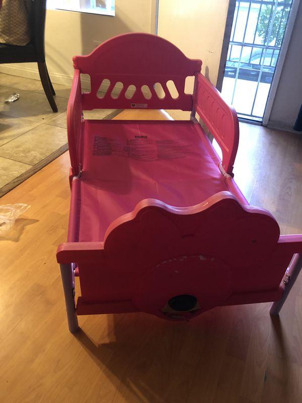 Free pink toddler bed