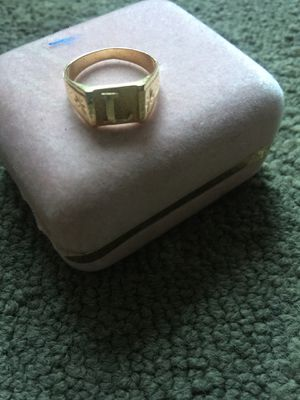 18k yellow gold (L) letter unisex ring for Sale in Anaheim, CA