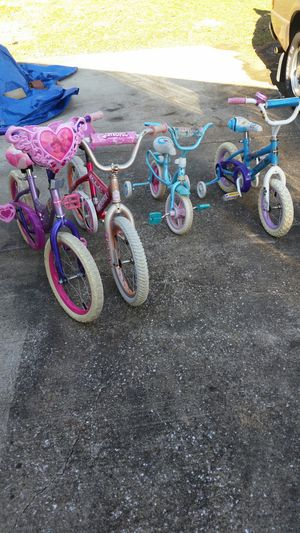 Girls child and toddler bikes for Sale in Eldersburg, MD