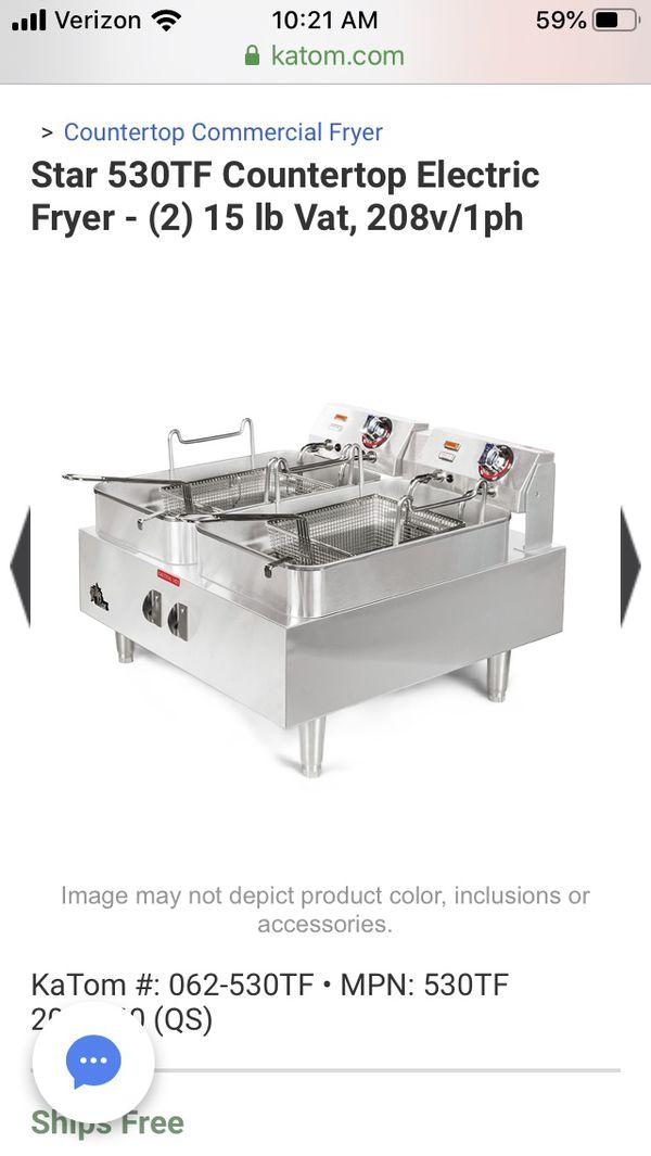 Star commercial electric fryer 208V