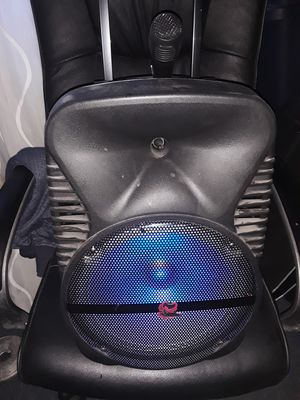 """iPhoenix Karaoke Speaker System Flashing 12"""" Led Lights, Built-in Rechargeable Battery,Bluetooth Wired Microphone USB/TF/AUX (SH299)     for Sale in San Diego, CA"""