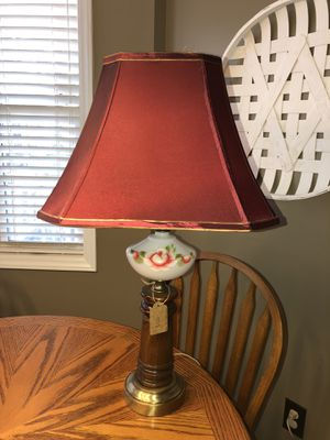 Antique hand painted table lamp for Sale in Fuquay Varina, NC