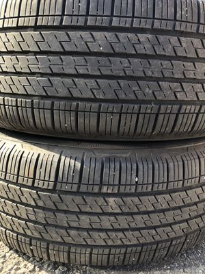 Two used tire 225/60R17 Continental 4X4 Contact two used tire $70 2 llantas usadas 225/60R17 Continental 4X4 Contact por las 2 llanto $70 for Sale in Alexandria, VA