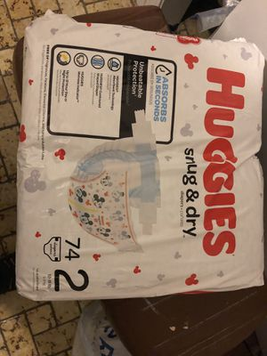 Huggies diapers size 2 for Sale in Lynn, MA