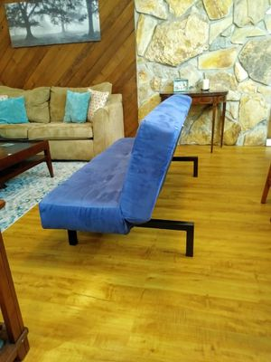 Blue Futon folds to twin bed for Sale in Safety Harbor, FL