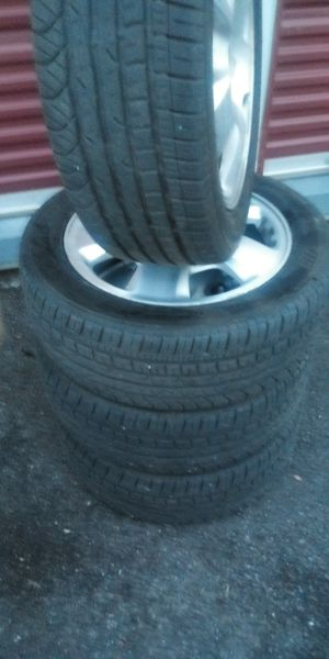 Alloy Acura rims with tires 215×55×r17 for Sale in Salt Lake City, UT