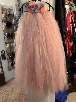 BRAND NEW, UNUSED, UNWORN Flower Girl Wedding Birthday Party Quincinera Dress 9-10 year old Pink Peach Grey for Sale in Chicago, IL