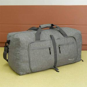 Duffel Bag 55L Packable Duffle Bag with Shoes Compartment Unisex Grey Travel Bag Water-Resistant Duffle Bag for Sale in Pomona, CA