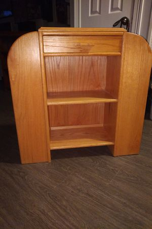 Real cedar wood shelf with drawer for Sale in Austin, TX