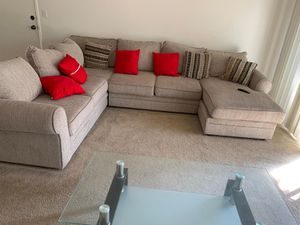 Sectional sofa , center table and tv console for Sale in Santa Ana, CA