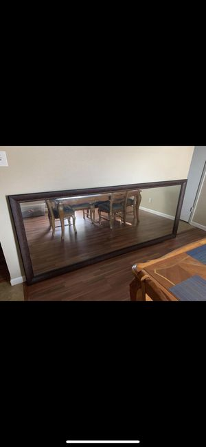 Huge mirror with frame for Sale in Missouri City, TX