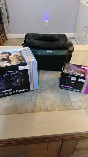 Vivitar V3800N SLR Camera with lens flash filters case for Sale in St. Petersburg, FL