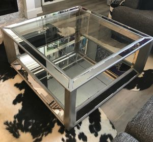 mirrored/glass coffee table and end table. for Sale in Dana Point, CA