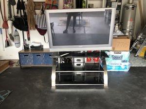Panasonic Flat Screen TV with Entertainment System Unit for Sale in Camas, WA