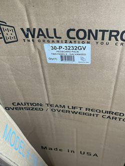 Wall Control 30-P-3232GV Galvanized Steel Pegboard Pack Brand New for Sale in Portland,  OR