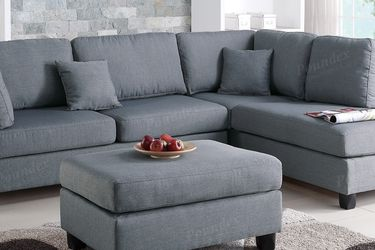 Grey Sectional Sofa With Ottoman And Reversible Chaise for Sale in Los Angeles,  CA