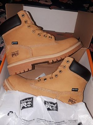 Ladies 8 steel toe timberland boots for Sale in Denver, CO