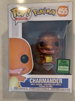 Diamond Charmander Funko Pop *MINT IN HAND* 2021 ECCC Spring Convention Target Exclusive Pokemon 455 with protector for Sale in Lewisville,  TX