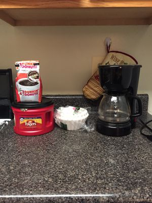 Coffee maker, coffee and filters. for Sale in Fairfax, VA