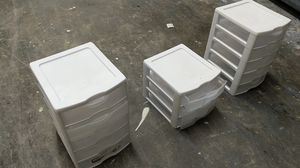 Plastic bins storage drawers perfect for garage organizer for Sale in Tampa, FL