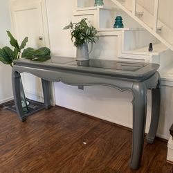 Gray And Glass Entrance Console Sofa Table for Sale in San Diego,  CA
