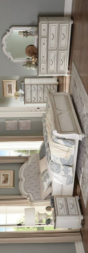 🧿BRAND NEW 🧿Willowick Antique White Sleigh Bedroom Set for Sale in Columbia, MD
