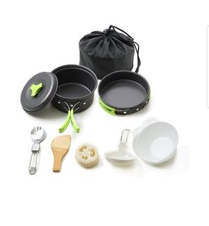 Honest Portable Camping cookware Mess kit Folding Cookset for Hiking Backpacking for Sale in El Monte, CA