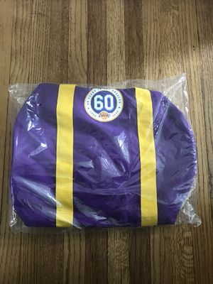 NEW Lakers duffle bag 60th anniversary edition for Sale in Lakewood, CA