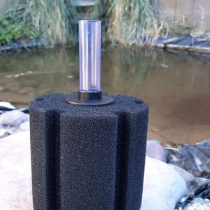 2X Sponge filter large, xy380 Uses air driven system to create suction that allows sponge to capture particles in your water and returns clean water. for Sale in Las Vegas, NV