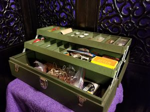 Kennedy Kit Locking Two Tray Metal Tackle Tool Box With Key 21×7×7 for Sale in Mill City, OR